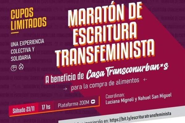 Maratón de Escritura Transfeminista. Una experiencia virtual, colectiva y solidaria
